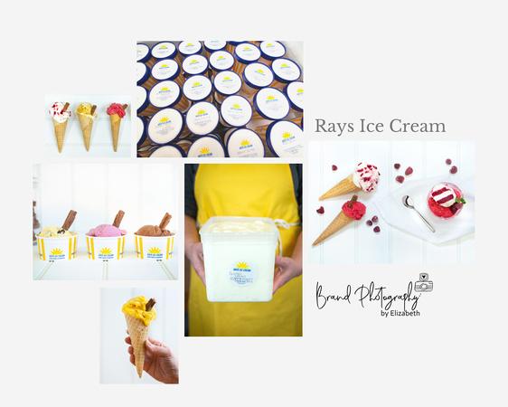 brand photography by elizabeth; brand photographer swindon, brand photographer wiltshire, Rays Ice Cream